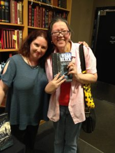 Editor Elizabeth MS Flynn as author Eilis Flynn with client and co-author Heather Hiestand.